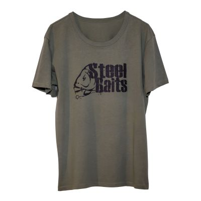 Steel Baits T-Shirt Logo military green